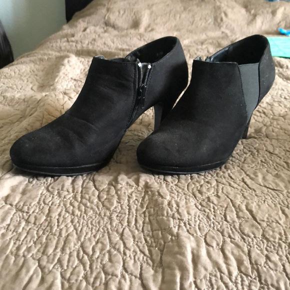 d94415c39d788 impo Shoes | Faux Suede Stretch Booties | Poshmark